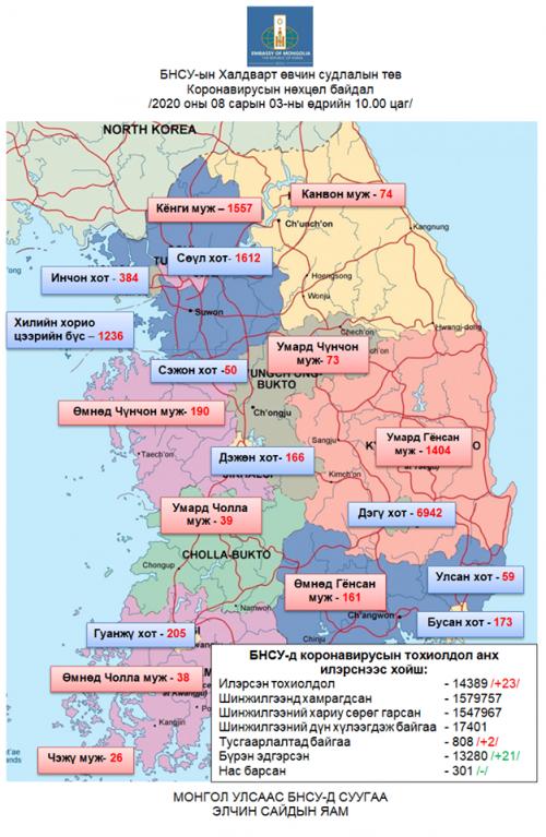 БНСУ-ын Халдварт өвчин судлалын төвийн 10:00 цагийн мэдээ 2020.08.03.