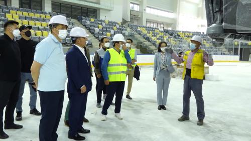 Монгол Улсын Ерөнхийлөгч Х.Баттулга Хан-Уул дүүрэгт хэрэгжиж буй спортын бүтээн байгуулалтын төслүүдийн явцтай танилцлаа