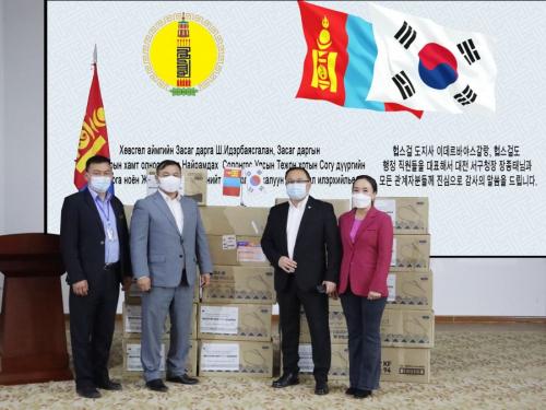 БНСУ-ын Согу дүүргээс Хөвсгөлд 20000 ширхэг амны хаалт илгээжээ